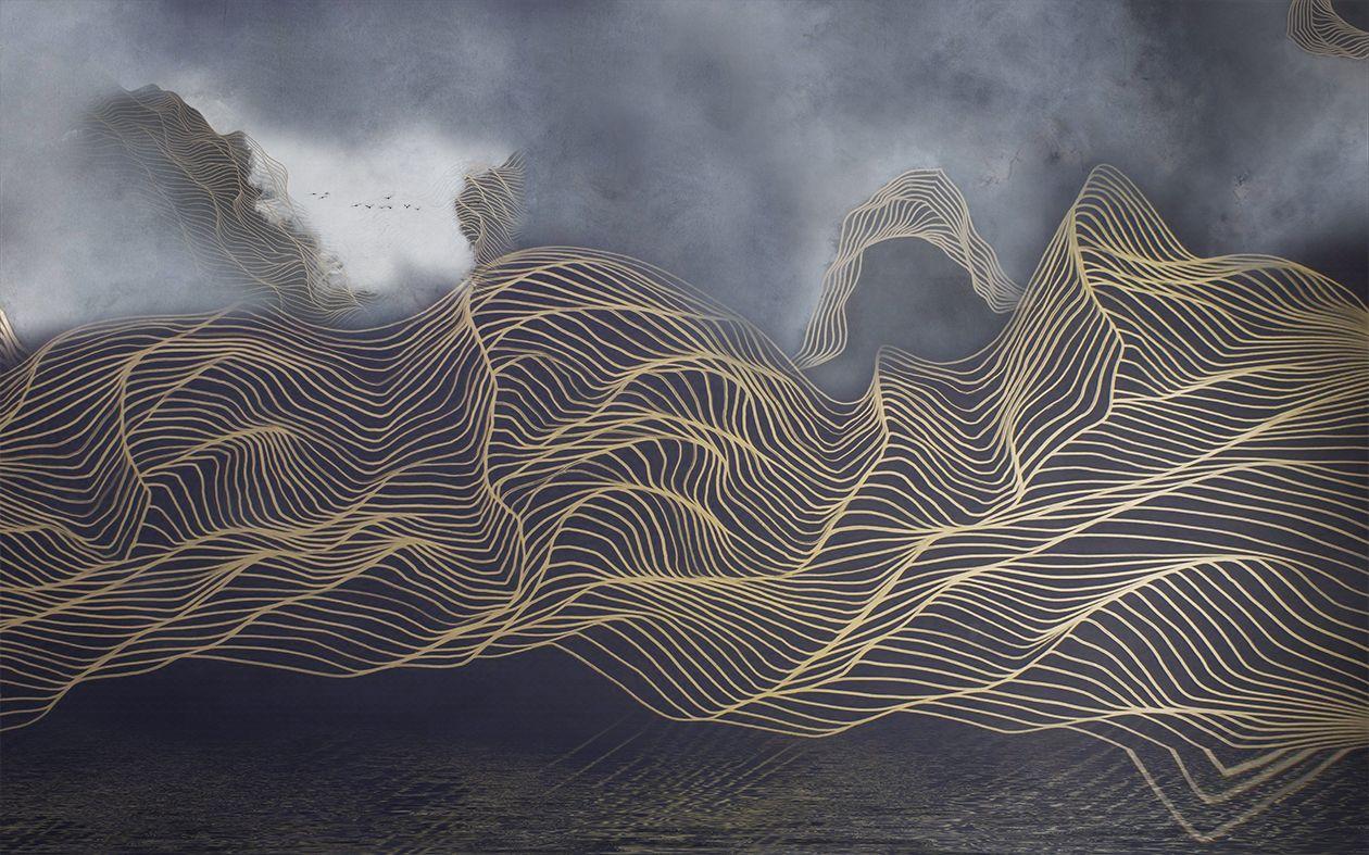 Фотообои «Туманная волна »