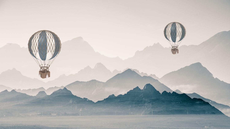 Фотообои «Полет над фьордом»