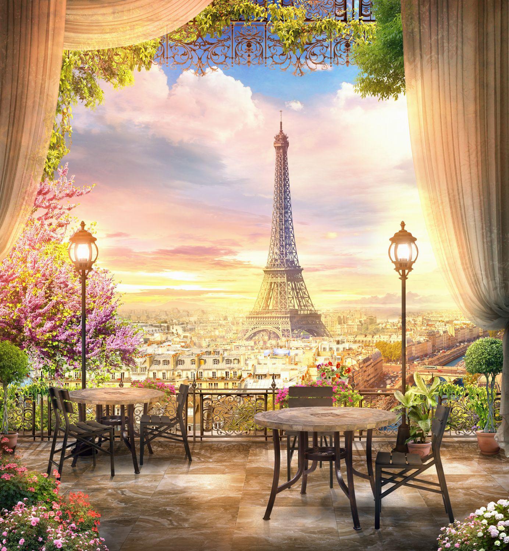 Фотообои «Закат в Париже»
