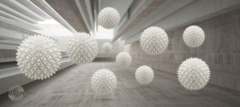 Фотообои «Белые шары»