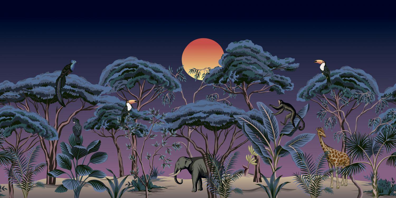Фотообои «Ночные джунгли»