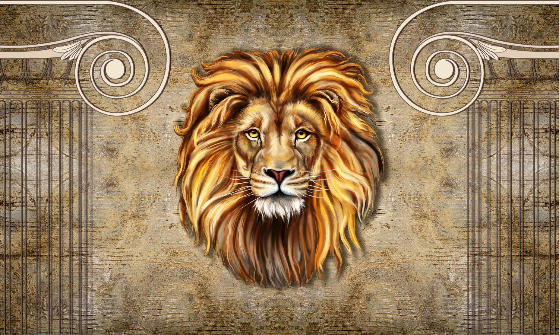 Фотообои «Большая голова льва»