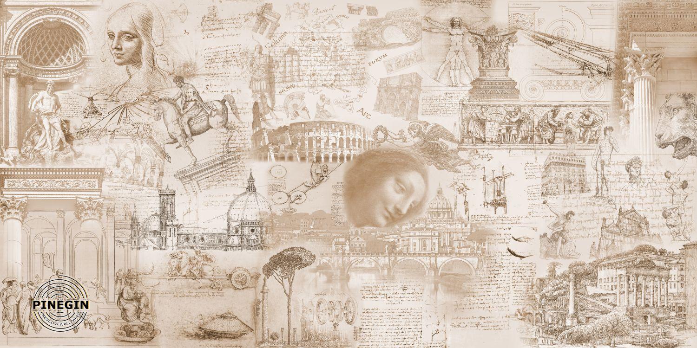 Фотообои «Эскизы Да Винчи»