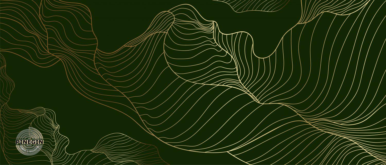 Фотообои «Абстракция на зеленом фоне»
