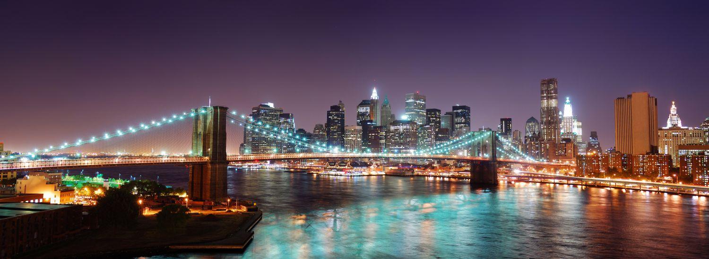 Фотообои «Мост в огнях»