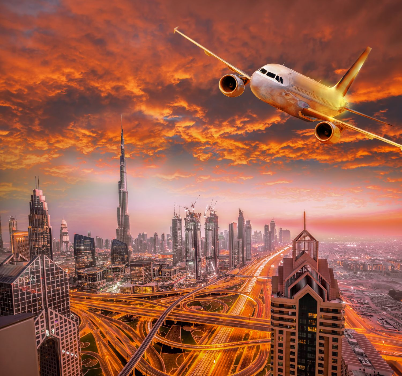 Фотообои «Самолет в лучах солнца»