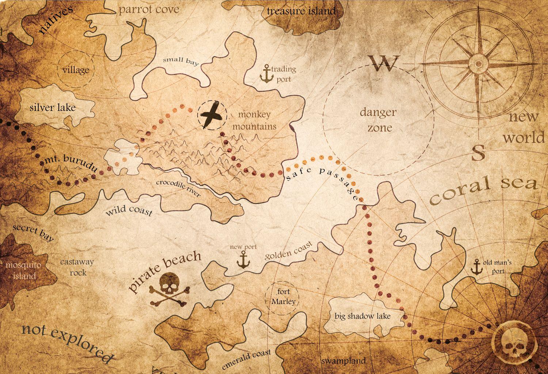 Фотообои «Карта старинная 24»