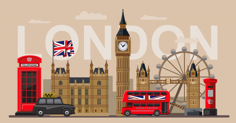 Фрески «Символы Лондона»