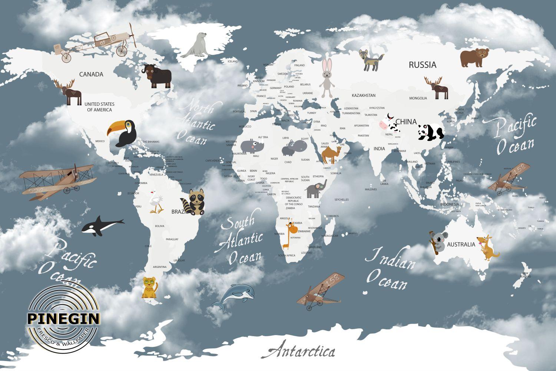 Фотообои «Карта для детей»