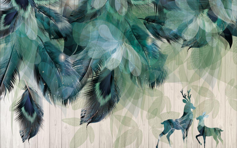 Фрески «Листья с перьями»