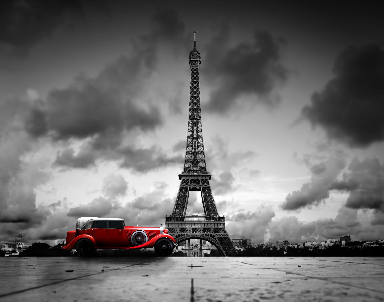 Фрески «Ретро автомобиль в Париже»