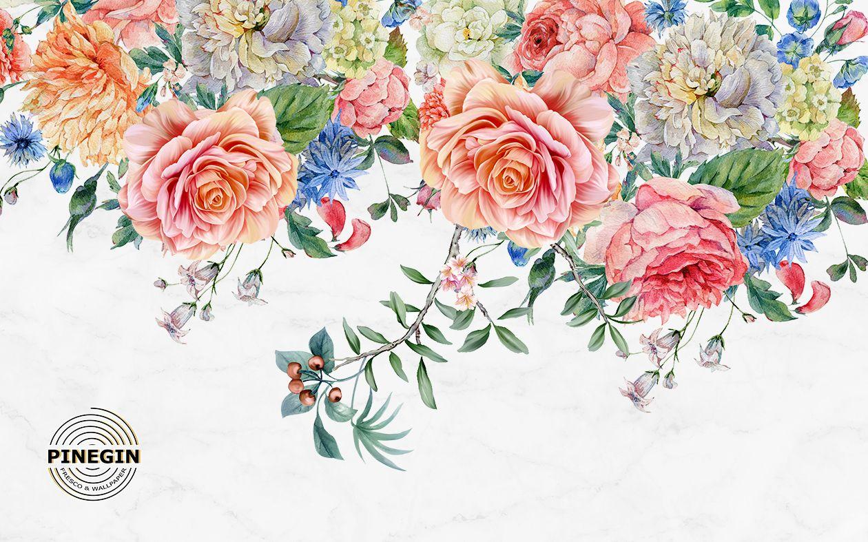 Фотообои «Большие розы»