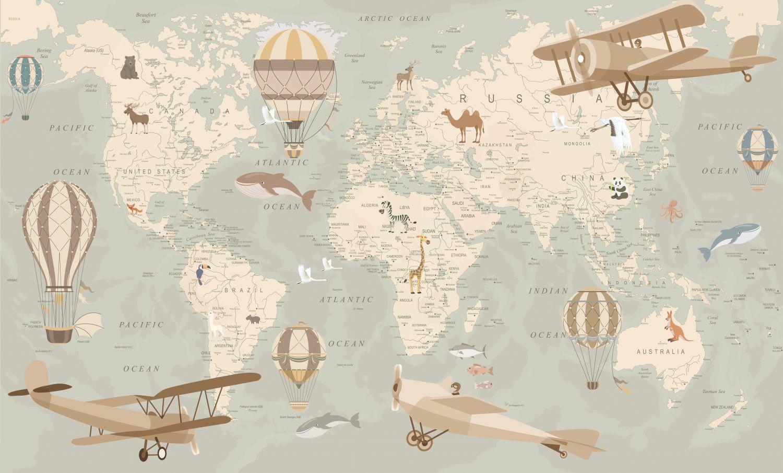 Фотообои «Карта на английском »
