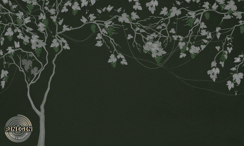 Фотообои «Виноград на зеленом фоне»