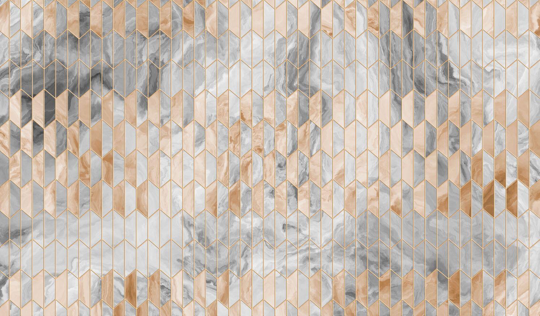 Фотообои «Мрамор в геометрии »