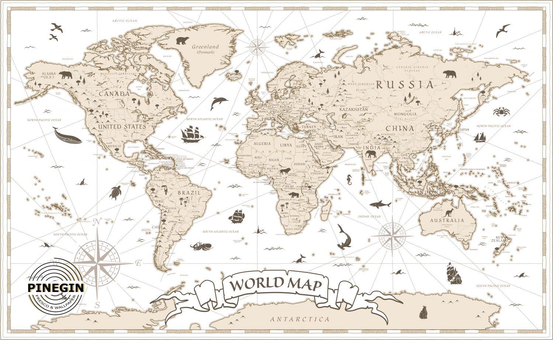 Фотообои «Карта мира»