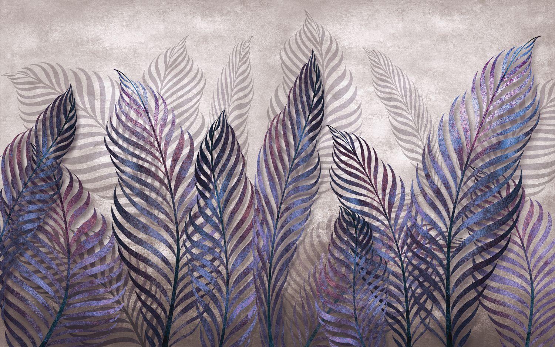 Фотообои «Фиолетовые листья»