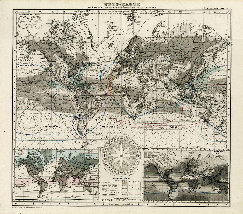 Фотообои «Карта старинная 3»