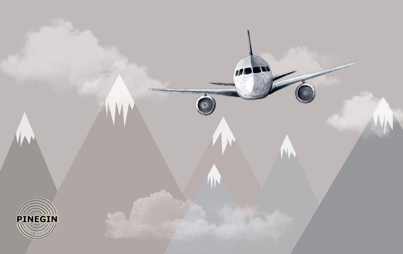 Фотообои «Самолет в горах»