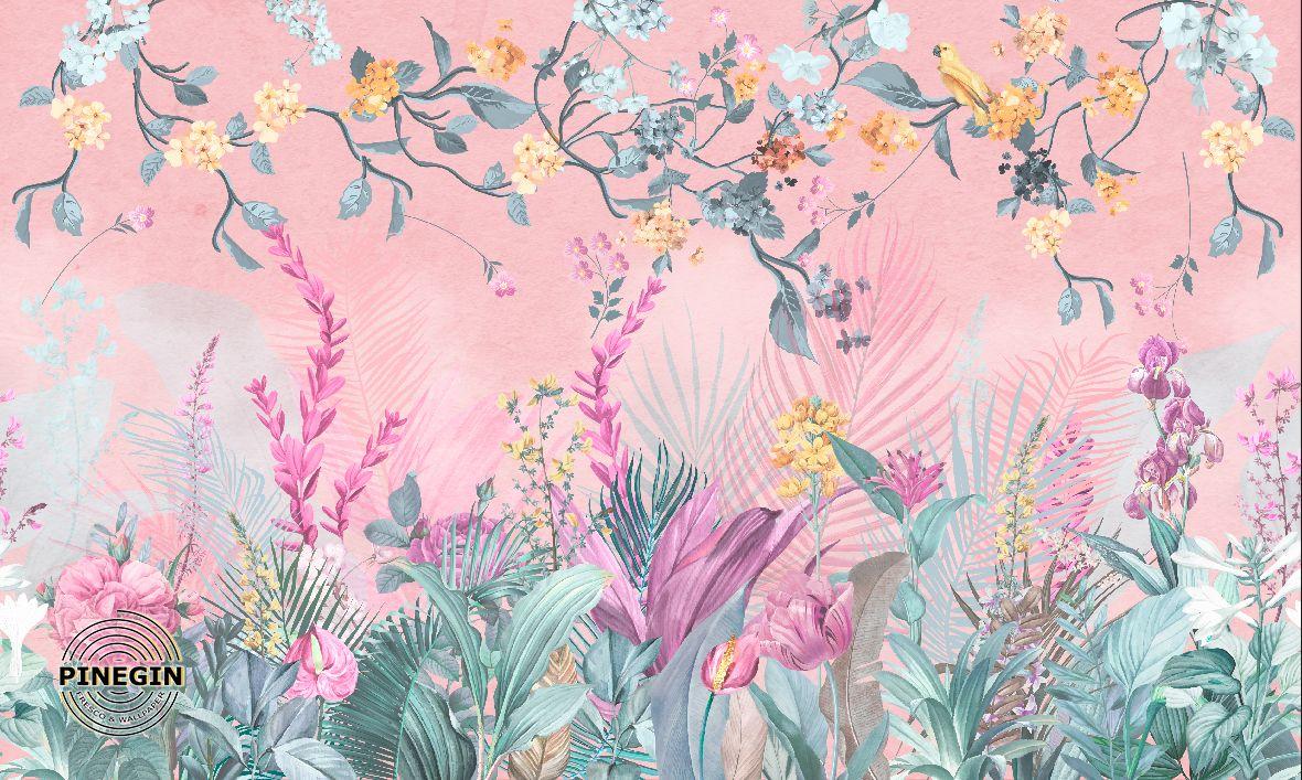 Фрески «Розовые цветы»