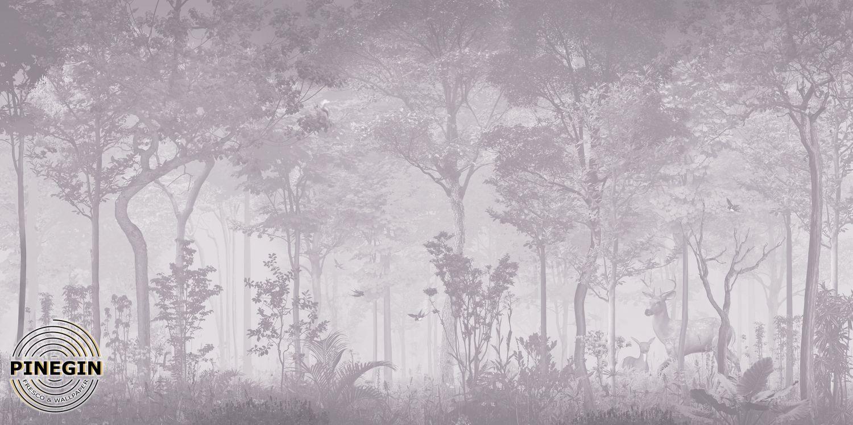 Фотообои «Лесная чаща в тумане»