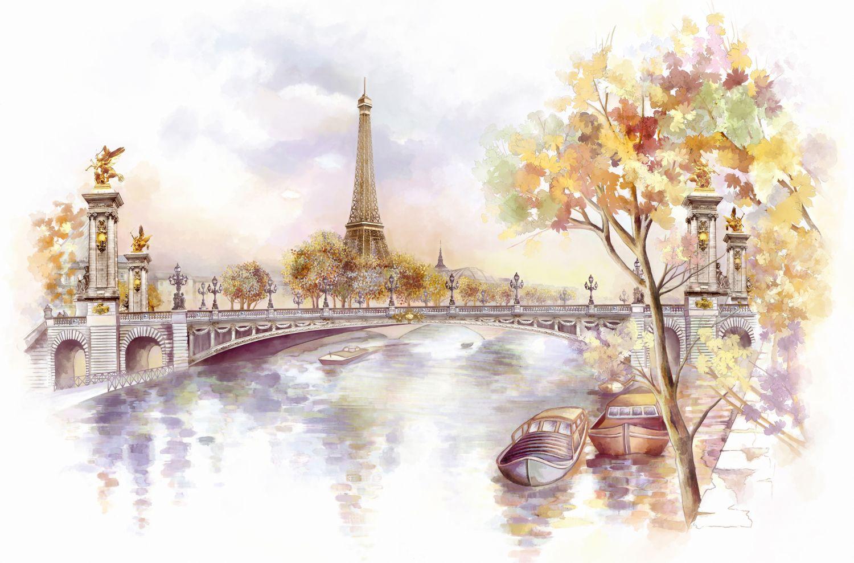 Фотообои «Париж осенью»