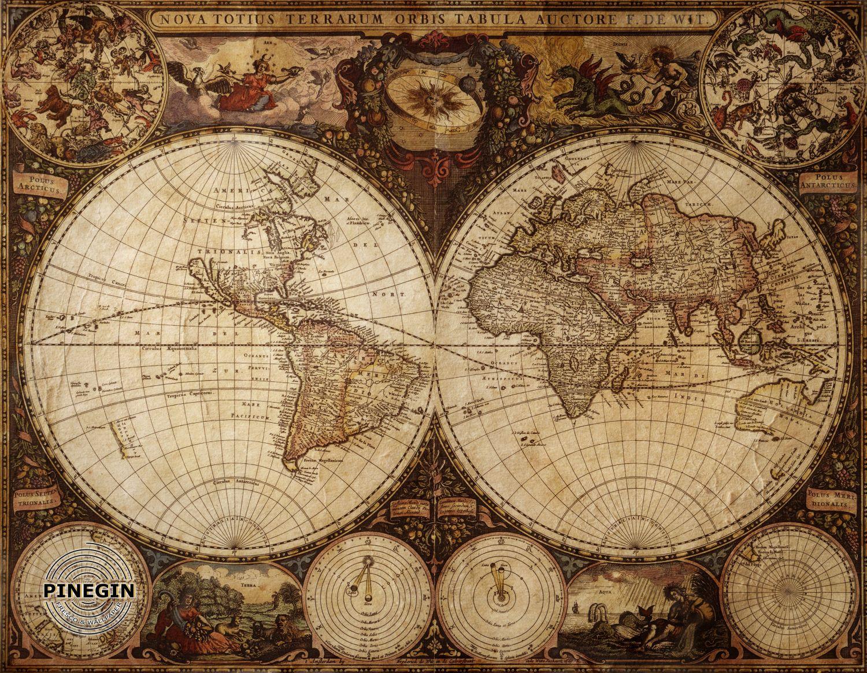 Фотообои «Антикварная карта»