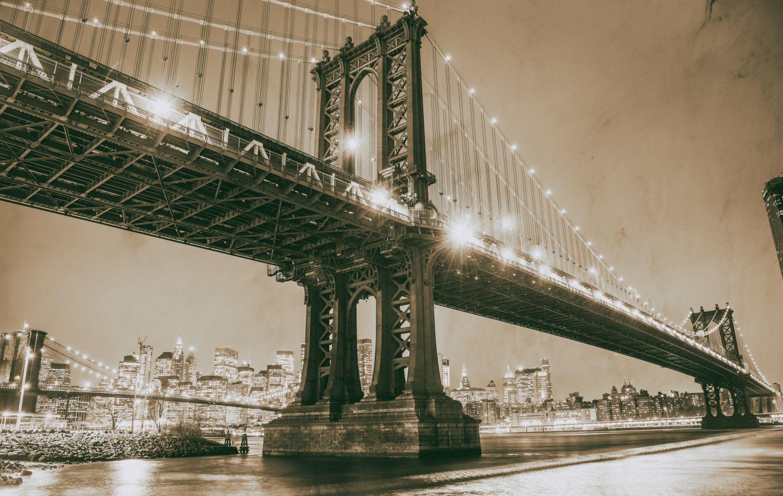 Фотообои «Мост в ч/б»