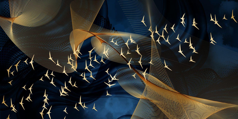 Фотообои «Абстракция птиц»