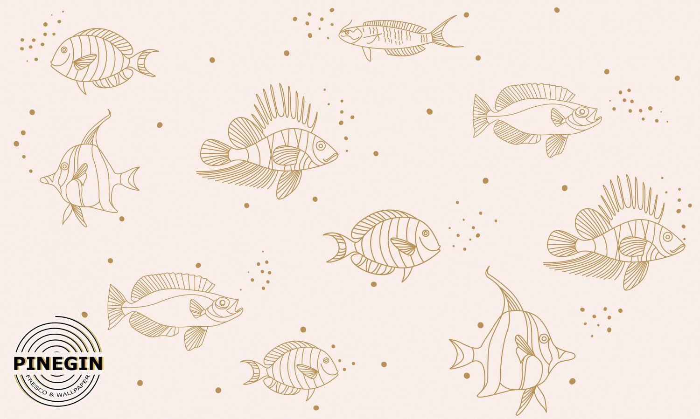 Фотообои «Стая рыб GL73»