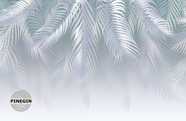 Фотообои «Серые пальмовые листья»