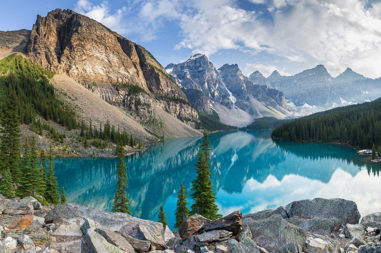 Фотообои «Горы и голубое озеро»