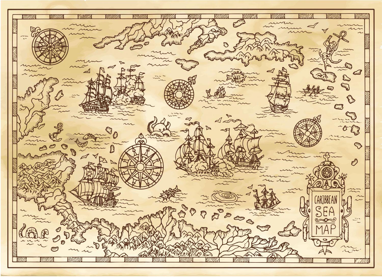 Фрески «Карта старинная 18»