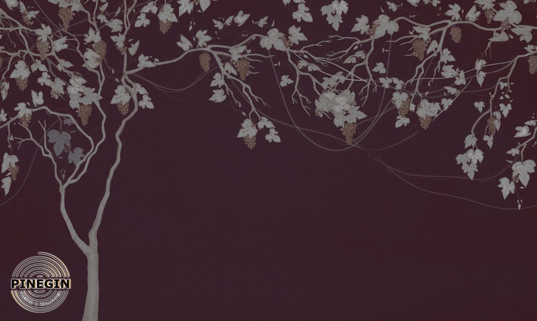 Фотообои «Виноград на бордовом фоне»