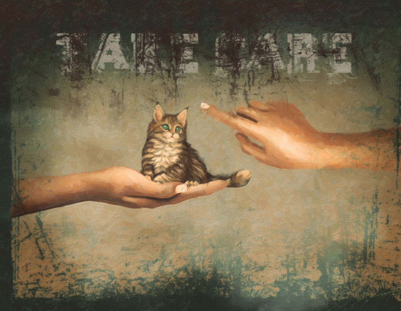 Фотообои «Котенок винтаж»