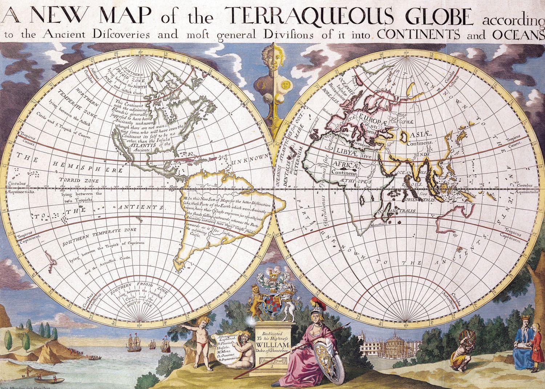 Фотообои «Карта Древнего мира»