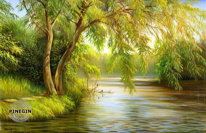 Фотообои «Ива над рекою»