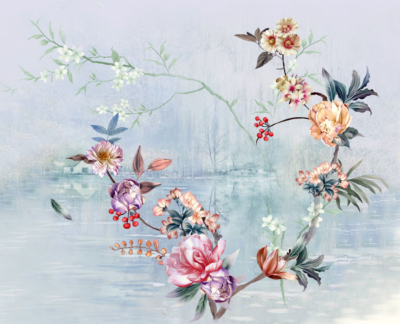 Фотообои «Цветочный полет »
