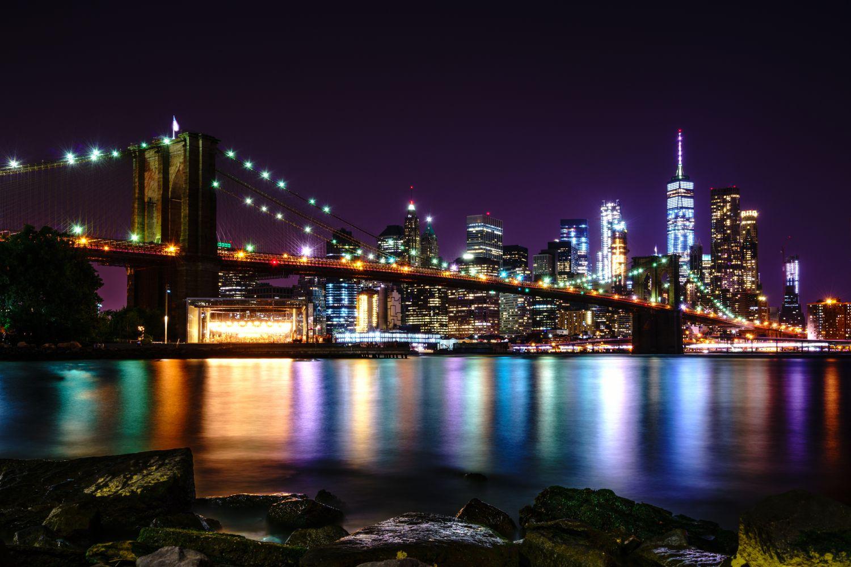 Фотообои «Ночные мосты 7»