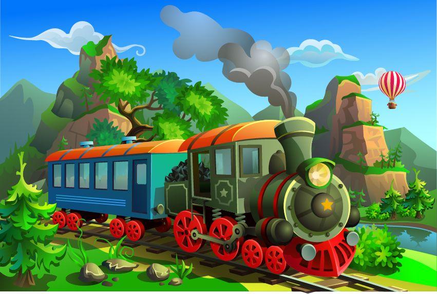 Фотообои «Поезда 6»