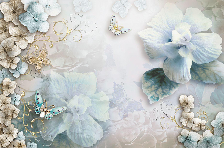 Фотообои «Лазурные цветы»