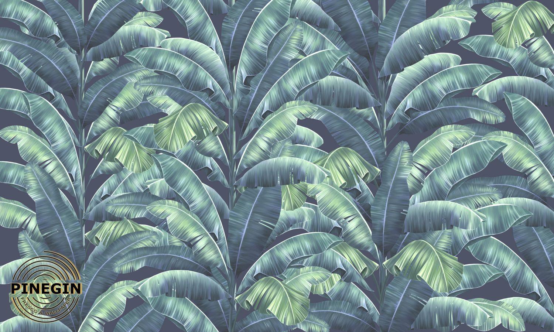 Фотообои «Сине-зелёные пальмовые листья »