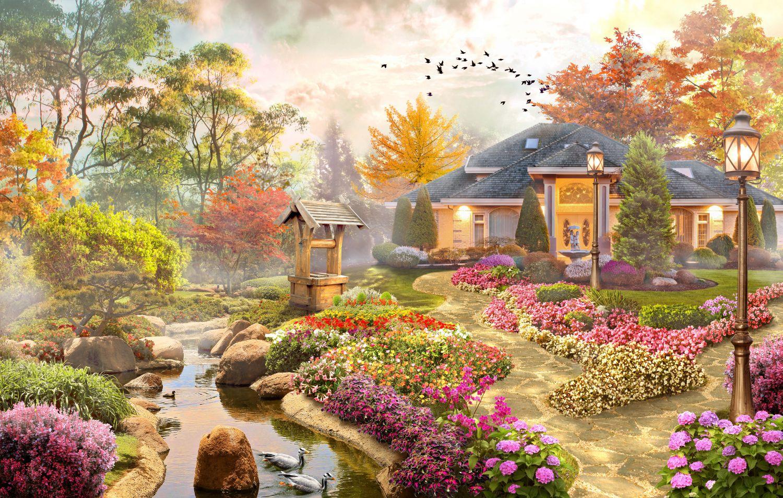 Фотообои «Домашний сад»