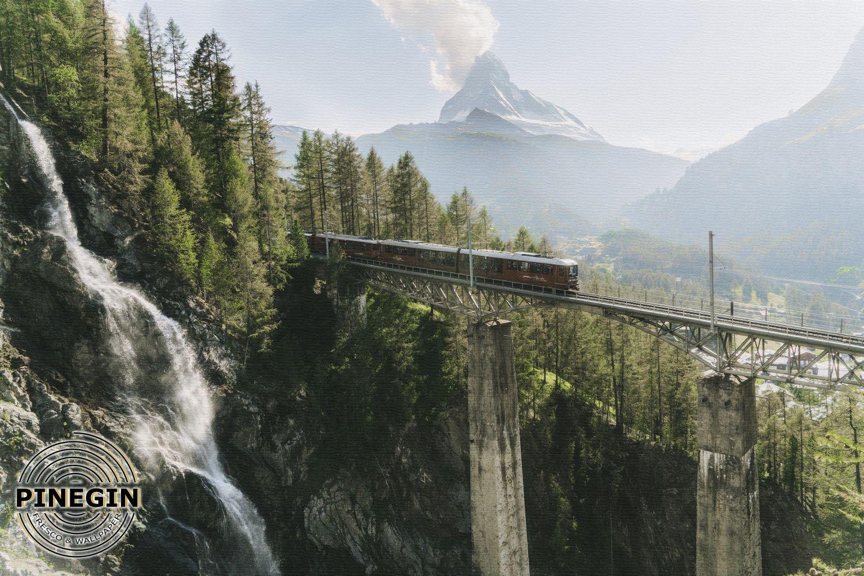 Фотообои «Поезд на мосту»