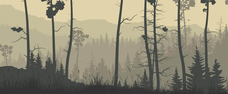 Фрески «Лес и горные вершины»