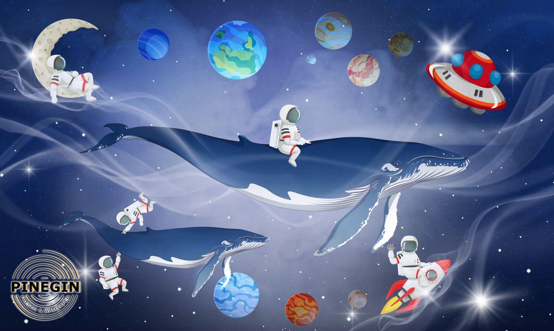 Фотообои «Кит в космосе »