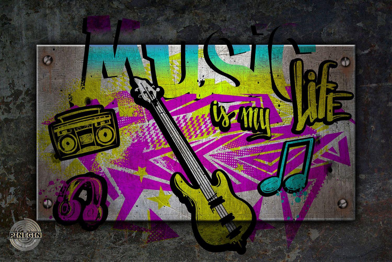 Фотообои «Графическая гитара»