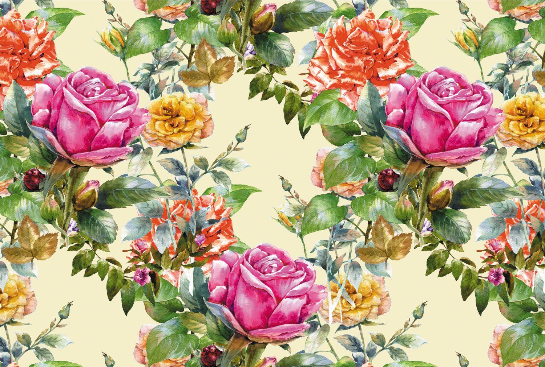 Фрески «Разноцветные розы»