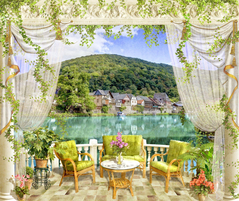 Фотообои «Балкон с прекрасным видом»