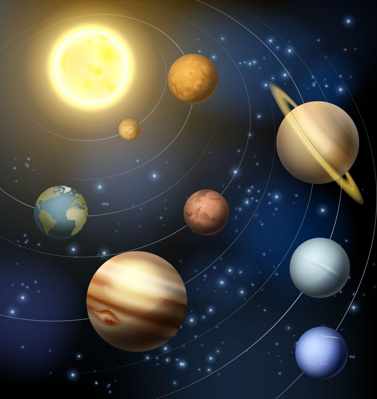 Фотообои «Планеты вокруг солнца»